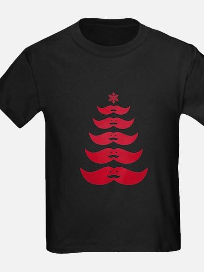 red mustache Christmas tree T-Shirt