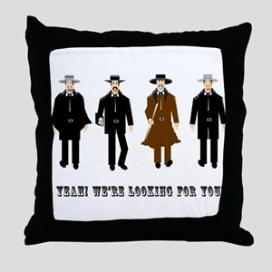 Gunslingers at the O.K. Corral Throw Pillow