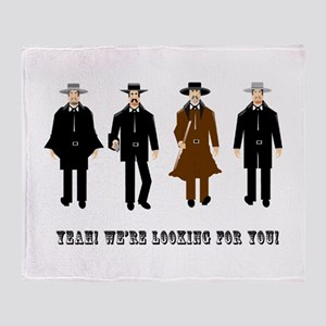 Gunslingers at the O.K. Corral Throw Blanket