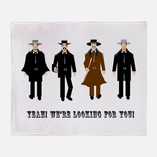 Gunslingers at the O.K. Corral Throw Blanket