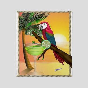 Macaw Margarita Throw Blanket