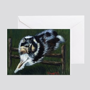 Rough Collie Agility Dog Greeting Cards