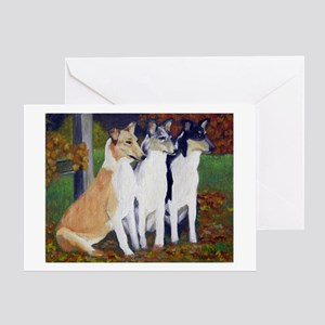 Smooth Collie Dogs Greeting Cards
