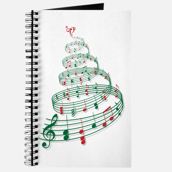 Music Christmas tree Journal