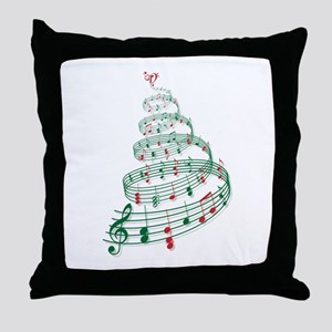 Music Christmas tree Throw Pillow
