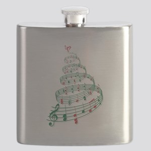 Music Christmas tree Flask