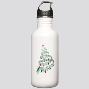 Music Christmas tree Water Bottle