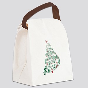 Music Christmas tree Canvas Lunch Bag