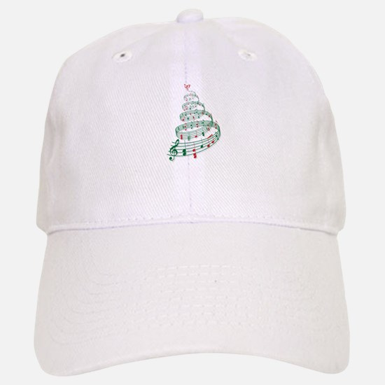 Music Christmas tree Baseball Baseball Baseball Cap