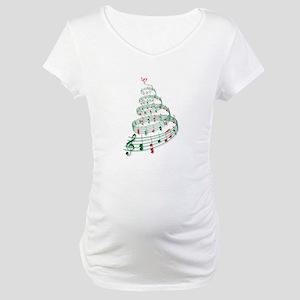 Music Christmas tree Maternity T-Shirt