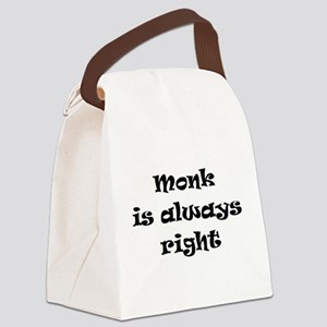 monk always right Canvas Lunch Bag