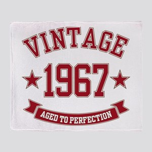 1967 Vintage Aged to Perfection Throw Blanket