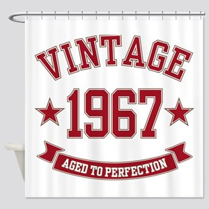 1967 Vintage Aged to Perfection Shower Curtain