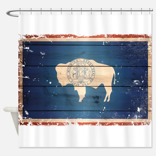 Wyoming State Flag Shower Curtain