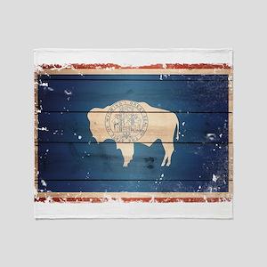 Wyoming State Flag Throw Blanket