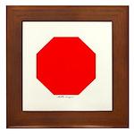 Stop Sign Framed Tile