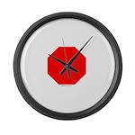 Stop Sign Large Wall Clock