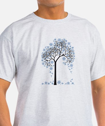 Winter tree with birds T-Shirt