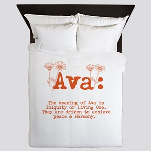 The Meaning Of AVA Queen Duvet