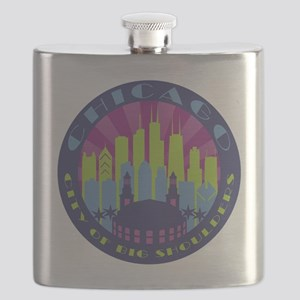 Chicago round cool Flask