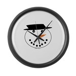 Snowman Large Wall Clock