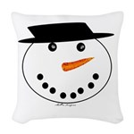 Snowman Woven Throw Pillow