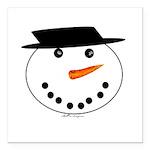 Snowman Square Car Magnet 3
