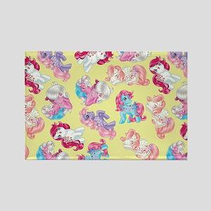 My Little Pony Retro Three Ponies Rectangle Magnet