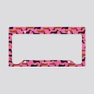 XX Pink License Plate Holder
