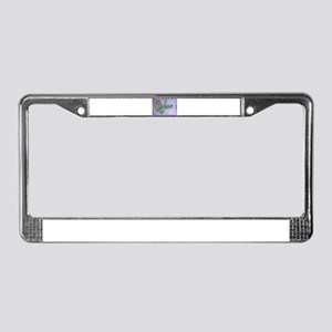 Believe Word Art License Plate Frame