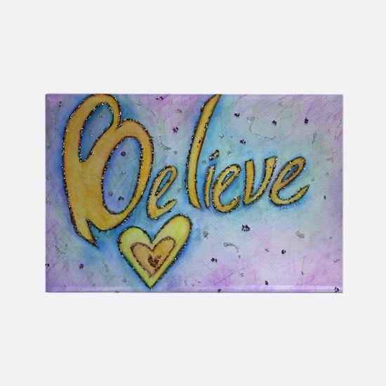 Believe Word Art Magnets
