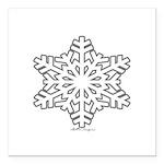 snowflake Square Car Magnet 3