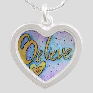 Believe Word Art Necklaces