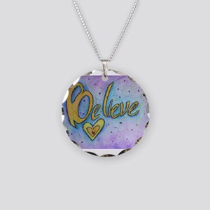 Believe Word Art Necklace