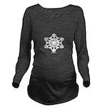 snowflake Long Sleeve Maternity T-Shirt