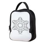 snowflake Neoprene Lunch Bag