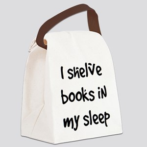 shelve books Canvas Lunch Bag