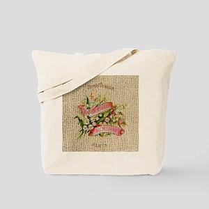 vintage scripts  floral french art Tote Bag