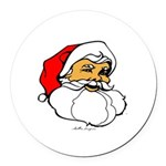Santa Clause Round Car Magnet