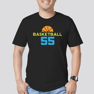 Custom Basketball Player 55 Men's Fitted T-Shirt (