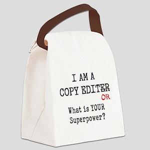 copy editor Canvas Lunch Bag