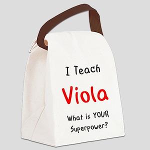 teach viola Canvas Lunch Bag