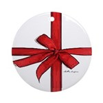 Gift Wrap Ornament (Round)