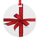 Gift Wrap Round Ornament