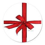 Gift Wrap Round Car Magnet