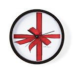 Gift Wrap Wall Clock