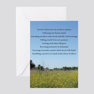 Let Our Actions Greeting Cards