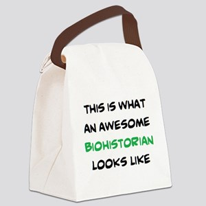 awesome biohistorian Canvas Lunch Bag