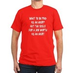 $15 an hour? - Men's Fitted T-Shirt (dark)