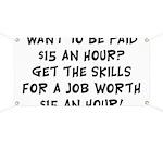 $15 an hour? - Banner